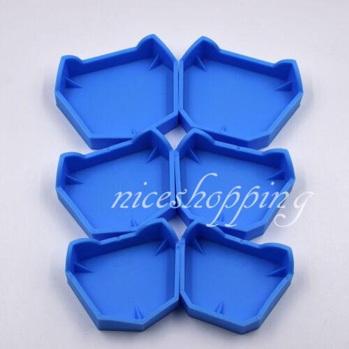 1 Set Dental Lab Model Former Base Molds Blue 2 Types F Different Trays 6 Pcs