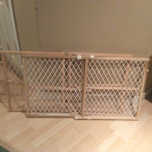 2 Position and lock wooden gates