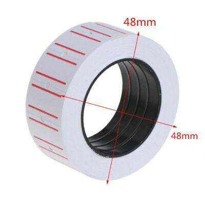 5 Rolls Practical White Self Adhesive Price Label Tag Sticker Office Supplies
