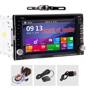 Windows 2 Din 6.2 Inch GPS In-Dash Stereo Car DVD Player Bluetooth iPod+Camera