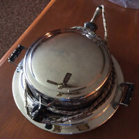 Antique working chrome waffle maker
