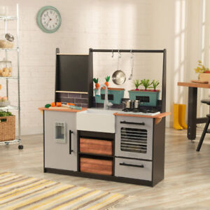 KidKraft Farm to Table Play Kitchen - Brown/Grey New in Box