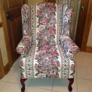 Beautiful Wing Back Chair - Never Used