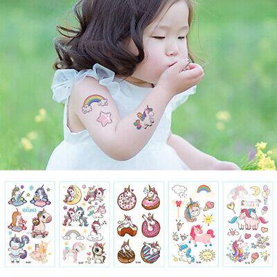 10pcs Cartoon Unicorn Temporary Tattoo Sticker Assorted Designs Party Gifts (Unicorn Tattoo)