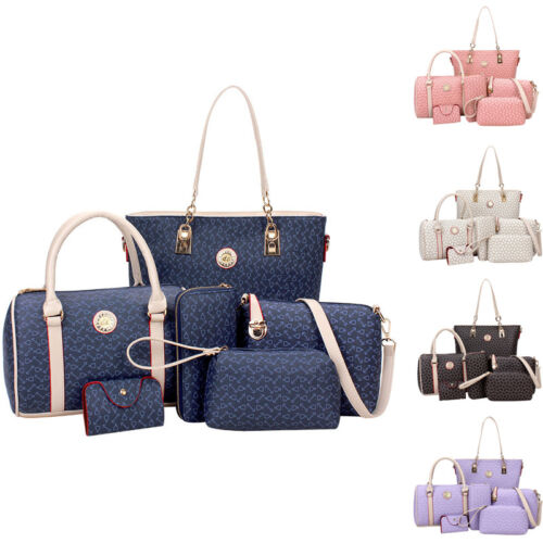 6PCS-Fashion-Women-039-s-Shoulder-Bags-Satchel-Handbags-Crossbody ...