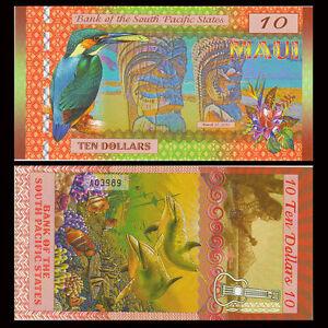 South Pacific States, 10 Dollars Maui Hawaii, USA 2015, Polymer, UNC - Otwock, Polska - South Pacific States, 10 Dollars Maui Hawaii, USA 2015, Polymer, UNC - Otwock, Polska