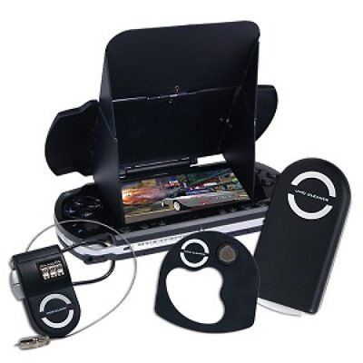 Psp Accessory Kit - GameDr 4-Piece Accessory Kit for Sony PSP (Lens, Cleaner, Glare Shield, Lock )