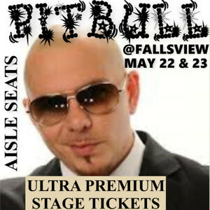 PITBULL @ FALLSVIEW CASINO –AMAZING 2nd ROW FLOOR TICKETS & MORE