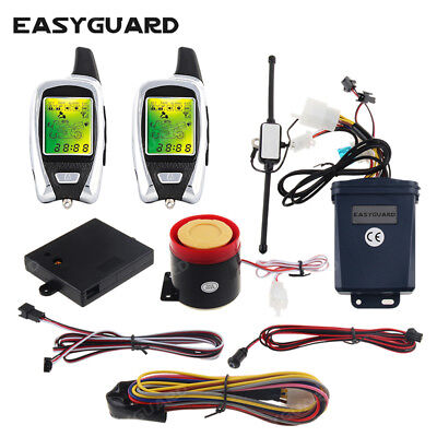 2 Way Motorcycle (2way motorcycle alarm system microwave sensor detect remote start security alarm )