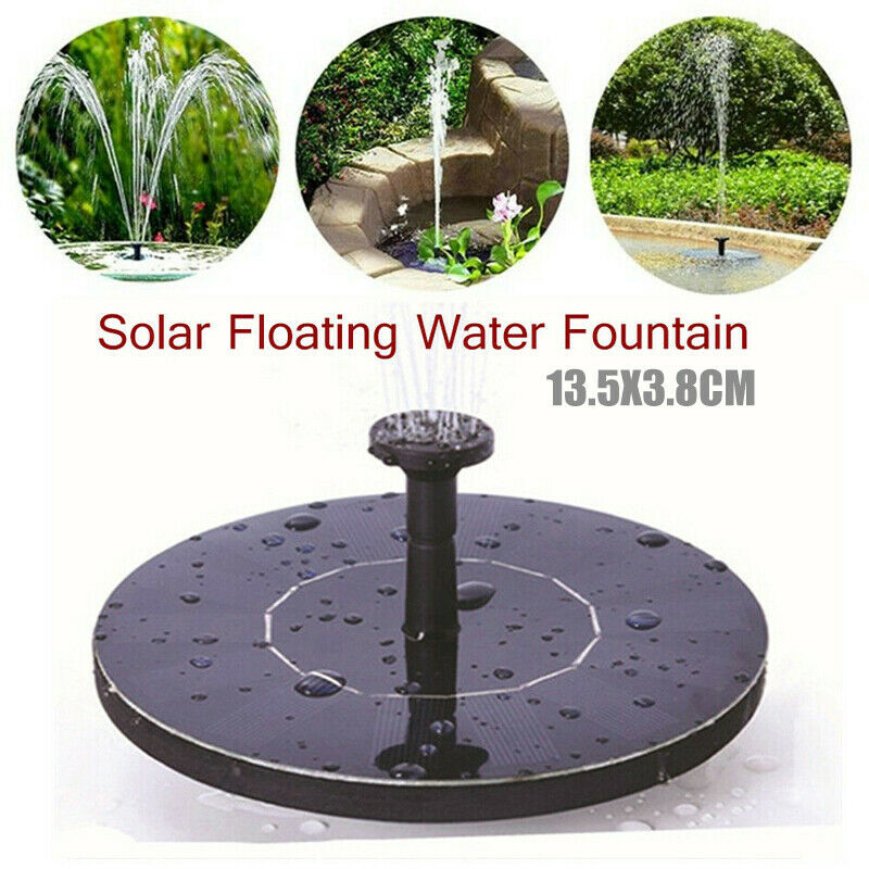 bird bath fountain solar powered water pump