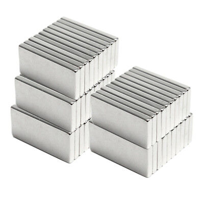 1-50pcs Silver Super Strong N52 Neodymium Rectangle Shape Ndfeb Cube Bar Magnets