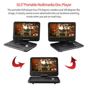 """Brand  New Portable DVD Player with 10.5"""" Swivel Screen"""
