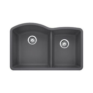 Blanco 401403 Diamond U 1.75 Double Undermount Kitchen Sink