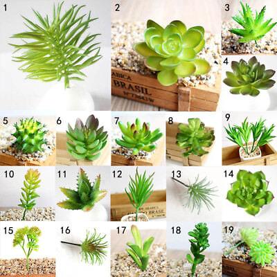 Artificial Succulents Plastic Plant Fake Cactus Floral Garden Home Office Decor - Artificial Succulent