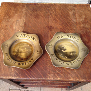 VERY RARE ANTIQUE WATSON'S SCOTCH WHISKEY PLATES - PARKER PICKER