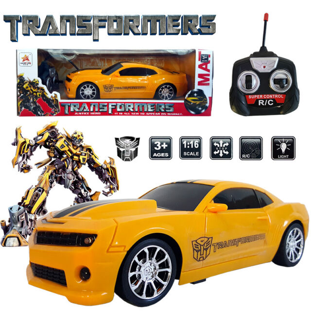 116 transformers robot bumblebee electric rc radio remote control car kids toy