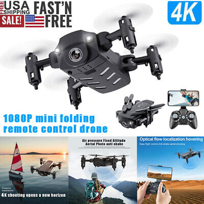 Mini Drone X Pro WIFI FPV Headless 1080P 4K HD Camera Foldable RC Quadcopter Kit
