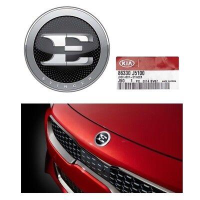 Front Bumper Emblem 2018 Stinger Genuine E Logo Badge Nameplate Hood Ornament