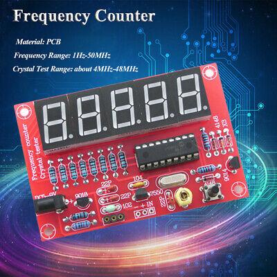 Digital Led 1hz-50mhz Crystal Oscillator Frequency Counter Meter Tester Diy Kits