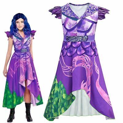 Girl Costumes For Halloween 2019 (HOT Descendants 3 Audrey Mal Jumpsuit Dress Costume For Halloween Cosplay)