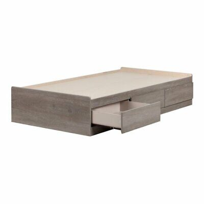 South Shore Savannah Twin Mates Bed with 3 Drawers in Sand O