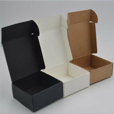 New Kraft Paper Wedding Favors Gifts Boxes Candy Jewelry Handmade Soap Packaging