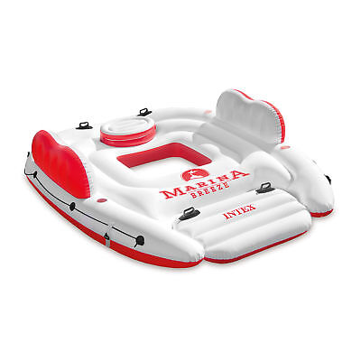 Intex Inflatable Marina Breeze Island Lake Raft with Built-In Cooler | 56296CA