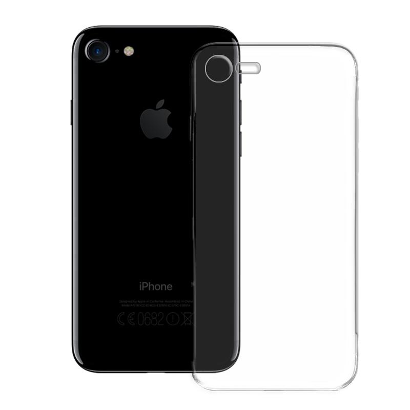 iPhone 7 Hülle Case Schutz Cover Silikon Transparent Tasche Handy Slim Bumper