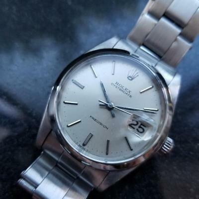 ROLEX Men's Oysterdate Precision 6694 Manual Wind, c.1967 Swiss Vintage LV762