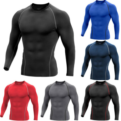 Men Compression Cool Dry Shirt Base-Layer Sports GYM Tight T