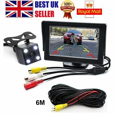 "Car Parking Rear View Kit 4.3"" TFT LCD HD Monitor +Night Vision Reversing Camera"