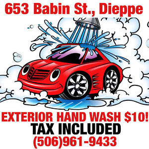 EXTERIOR HAND WASH $10! TAX INCLUDED