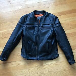 Manteau cuir moto homme (gr:médium)