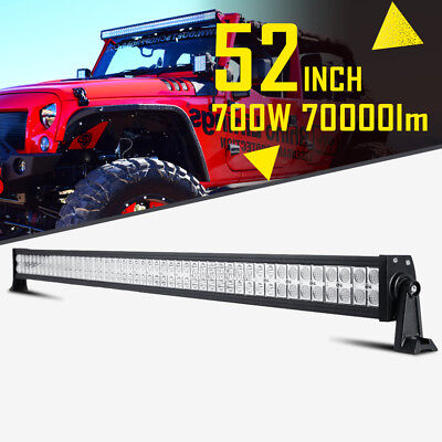 52INCH 700W LED WORK LIGHT BAR SPOT FLOOD CREE 4WD SUV BOAT OFFROAD FOR JEEP 50""