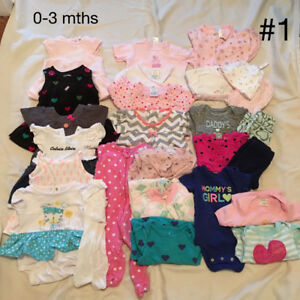 Baby girl clothing for sale (0-18 months)