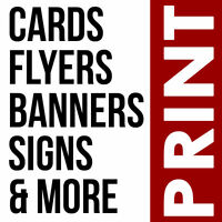 LOW PRICED PRINT: Business Cards, Flyers, Large Format, & More!