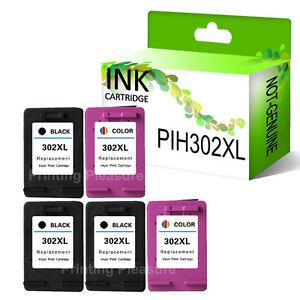 5 ink cartridges for hp 302xl envy 4520 4521 4523 4524 deskjet 3830 ebay. Black Bedroom Furniture Sets. Home Design Ideas