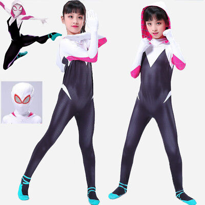 Frauen Phantasie Jumpsuit Spider Gwen Stacy Zentai Comicon Cosplay Kostüm DE (Spider Kostüme Frauen)