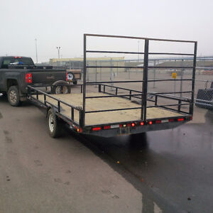 2013 Single Axle 8'x14' Utility Trailer with fold down ramps