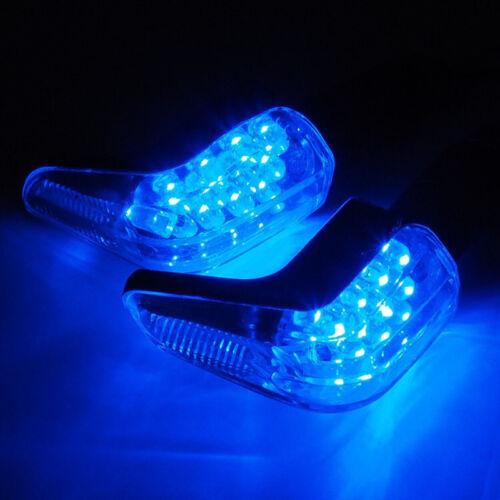 4X Blue 12 LED Blinker Motorcycle Indicator Turn Signal Blinker Light Universal