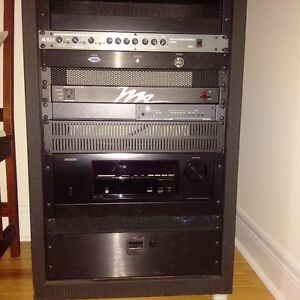 PRO A/V Racking System including P.A. Satellite Speakers & Aacti