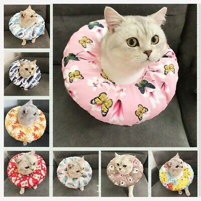 Pet Soft Elizabethan Collar Dog Cat Cone Recovery E-Collar Bite-Proof Protector Cat Cone Collar