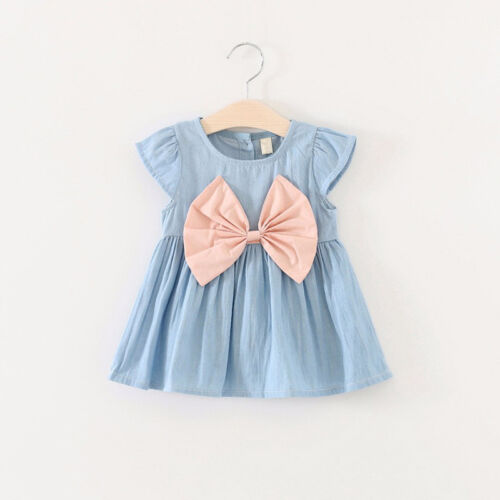 Toddler Infant Kids Baby Girls Summer Dress Princess Party Wedding Casual Dress