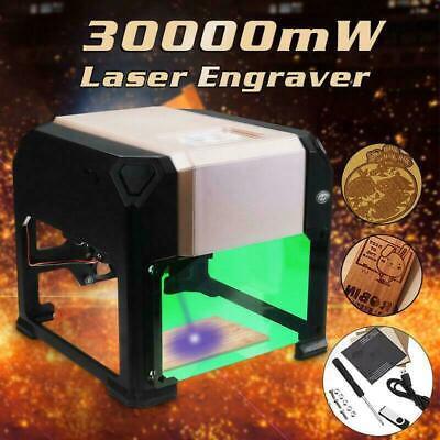 3000mw 3d Cnc Laser Engraving Cutting Machine Usb Engraver Diy Mark Printer Usa