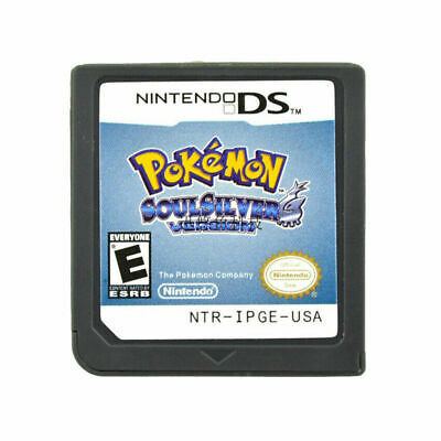 Pokemon: SoulSilver Version Nintendo DS Game Card Cartridge For 3DS NDSI NDSL