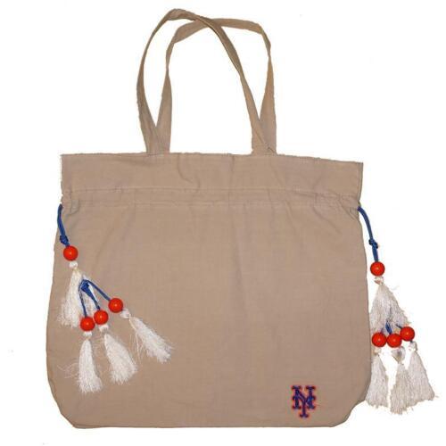 New York Mets Womens Canvas Handbag w/ Adjustable Cords touc