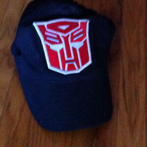 Adjustable Youth Large size Blue cap with Transformer decal