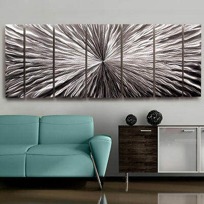 Silver Contemporary Metal Wall Art - Handmade Abstract Home Decor by Jon Allen
