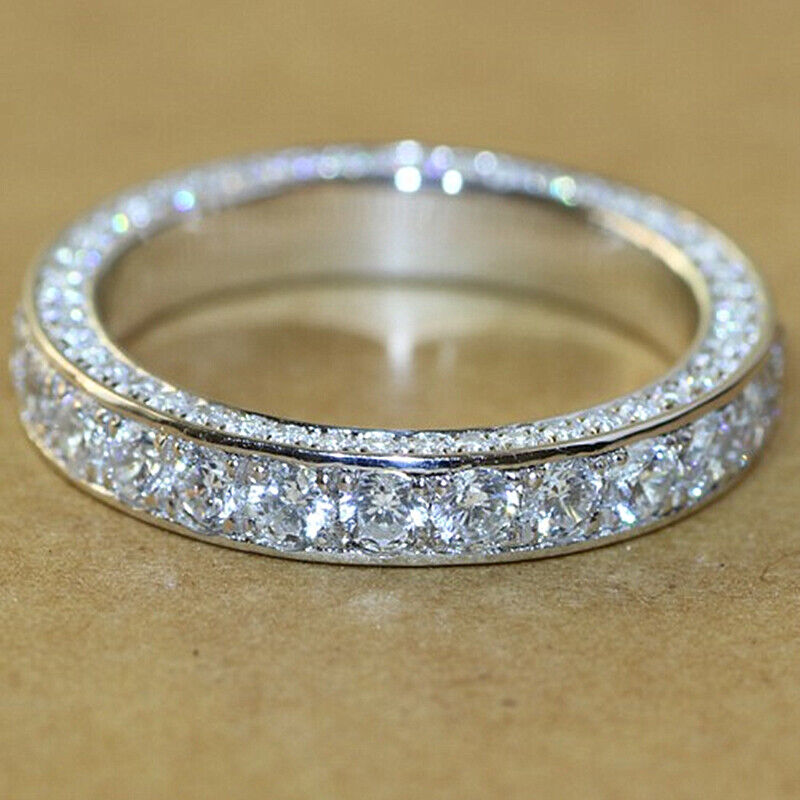 Gorgeous 925 Silver Rings for Women Cubic Zirconia Rings Jewelry Size 6-10