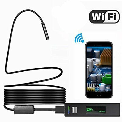 1200P HD Wireless WiFi Endoscope 8mm Inspection Camera Snake Cam for iPhone Mac